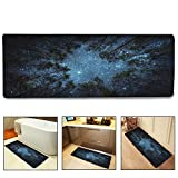 QIYI Bath Mat Rug Super Soft Non-Slip Machine Washable Quickly Drying Antibacterial,For Office Door Mat,Kitchen Dining Living Hallway Bathroom 16''x48''-The forest under the stars