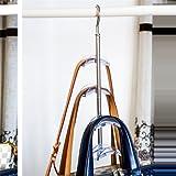 Stock Show 1Pcs 4 Hooks Rotateble Closet Accessories Handbags/Purse Hanger Storage, Blue/Green/Pink/Transparent
