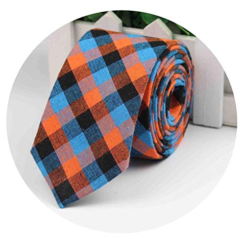 Fashion Tie Classic Men's Plaid Necktie Casual Tartan Suit Bowknots Ties Male Cotton Skinny Slim Ties,5 ()