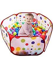 UClever 100CM Tienda de Juego Piscina de Bolas con Túnel para Niños Interior y Exterior (Bolas no Incluido)
