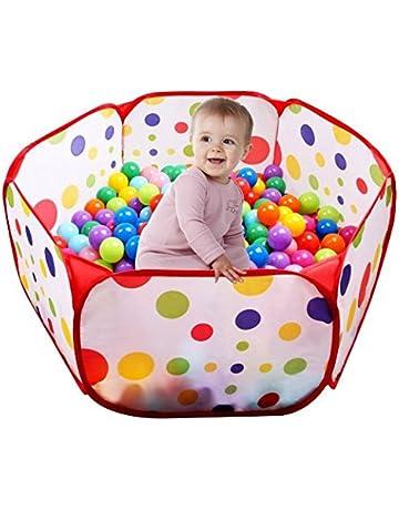 UClever 100CM Tienda de Juego Piscina de Bolas con Túnel para Niños Interior y Exterior (