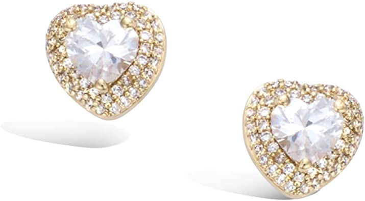 Gemstone Jewellery 18 Yellow Gold Filled 925 Solid Silver Halo Stud Earrings With Orange Sapphire