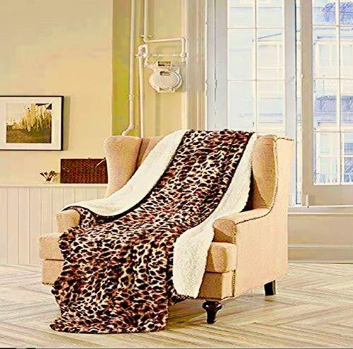 Cheetah Faux Fur Throw - Regal Comfort Faux Fur Luxury Plush Sherpa Mink Throw 50 in x 70 in (Safari Cheetah)