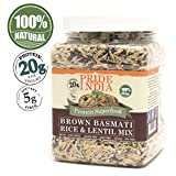 Pride Of India - Brown Basmati Rice & Black Lentil Kitchari Mix, 1.5 Pound Jar