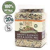 Pride Of India - Brown Basmati Rice & Black Lentil Kitchari Mix, 1.5 Pound Jar