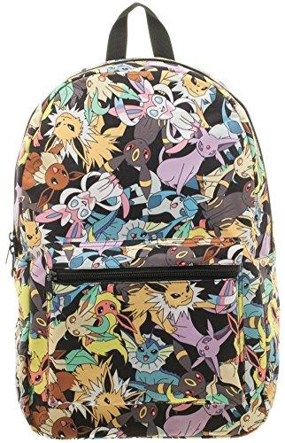 Pokemon Eevee Evolution Toss Print Sublimated Backpack