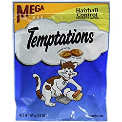Whiskas Temptations Hairball Control Chicken Flavor Cat Treats 4.9 oz by Mars (3-Pack Bundle)