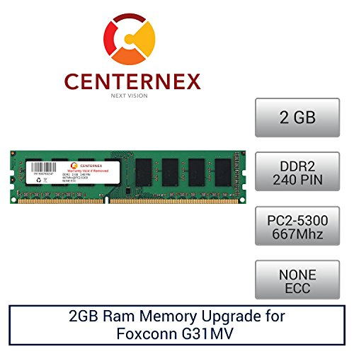 2GB RAM Memory for Foxconn G31MV (DDR25300 NonECC) Mother...