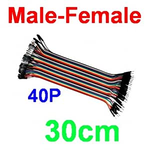 Vivian 40P 40-pin 30cm Dupont Wire Cable 1p-1p Male to Female Connector 2.54mm
