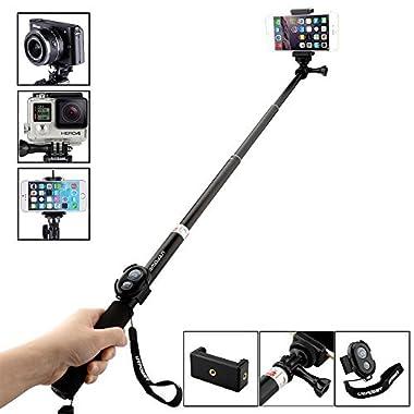 URPOWER S3 Monopod Selfie Stick for Digital Camera, Tablets & Smartphone Select Model - Black
