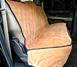 Plush Paws Ultra-Premium Velvet Pet Seat Cover, Without Hammock, Full Waterproof for Cars, Trucks & SUVs, Desert Sand Reg Size For Sale