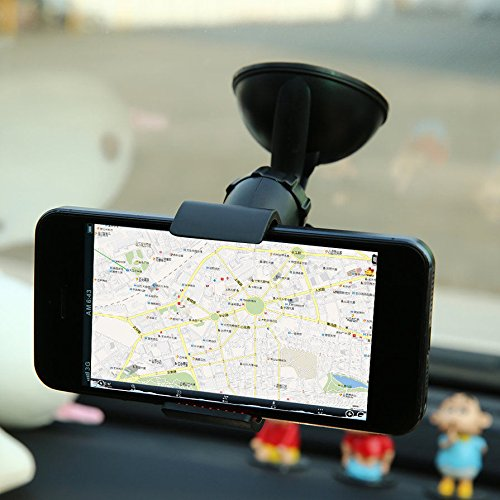 MAZIMARK--Hot 360°Rotating Car Windshield Mount Holder Stand Bracket for Cell Phone FE