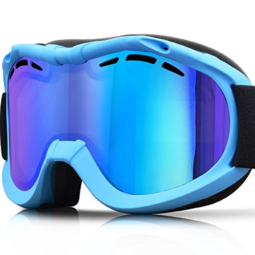 ZIONOR Lagopus Ski Snowboard Goggles UV Protection Anti-fog Snow Goggles for Men Women Youth Vent Full Finger