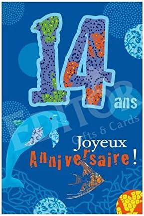 Carte Joyeux Anniversaire 14 Ans Cadeau Maestro Amazon Fr Cuisine Maison