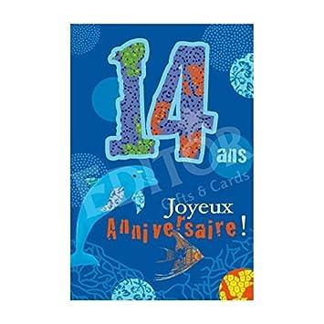 Carte Joyeux Anniversaire 14 Ans Cadeau Maestro Amazon Fr