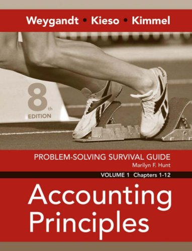 Problem Solving Survival Guide Vol. I, Chs. 1-12 to Accompany Accounting Principles