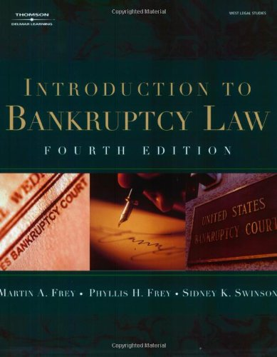Introduction to Bankruptcy Law (West Legal Studies Series)