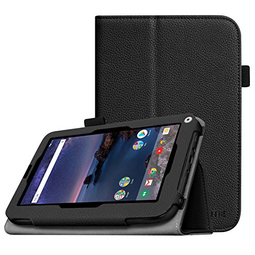 Fintie Azpen A746 Case - Premium PU Leather Folio Cover With Stylus Holder for Smartab 7 HD/Azpen A746 7-Inch Android Tablet, Black
