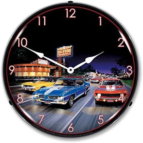 Bruce Kaiser Woodward Avenue Lighted Wall Clock