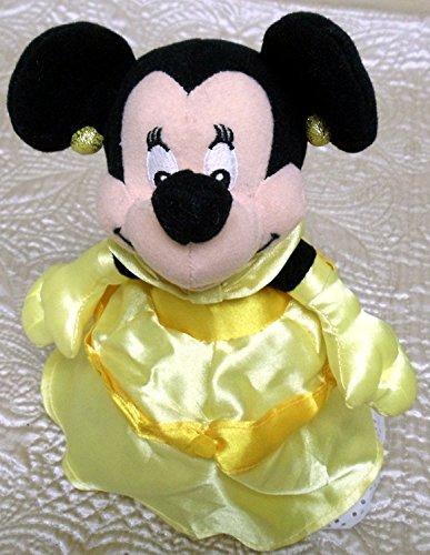 """Retired Disney Unique Minnie Mouse 8"""" Plush Bean Bag Doll Dr"""