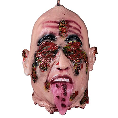 Xiaolanwelc@ 1pcs Latex God-awful Halloween Party Scary Mask Skull Horror Bloody Mask Helloween Sasquerade Scream Halloween Party Supplies (Bloody Scream Mask Halloween)