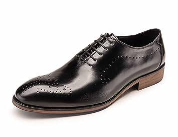 435b37a16cc5d3 Hommes Oxford Nouvelle-Angleterre Chaussures Habillées Jeunesse Tete Ronde Chaussures  Grande Taille Lacets Chaussures de