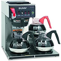 Bunn CWTF15-3 12 Cup Automatic Commercial Coffee Brewer with 3 Lower Warmers