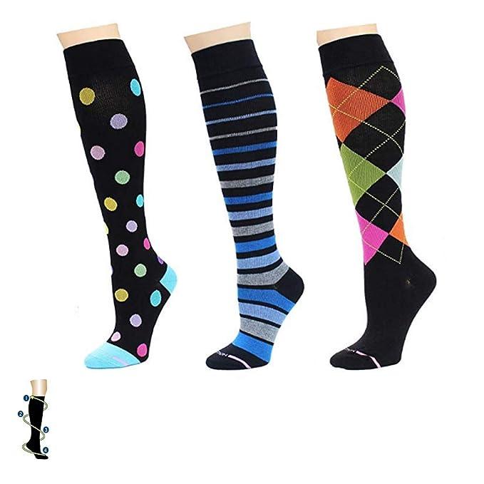 3e8bef7ca Amazon.com  3 Pairs Dr. Motion Compression Socks Women s For Nurse ...