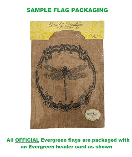 "Evergreen Life is an Adventure Just Go Double-Sided Burlap Garden Flag - 12.5""W x 18"