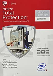 McAfee Total Protection para 3 PC + McAfee Mobile Security 2015 (3-Users)