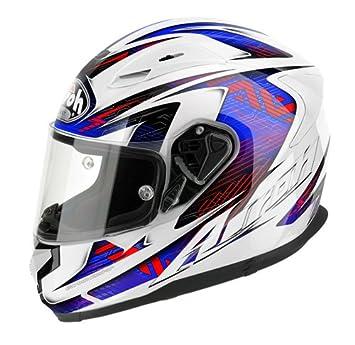 Airoh Moto de botes de casco, color Azul/Rojo (Bionic Azul-Rojo