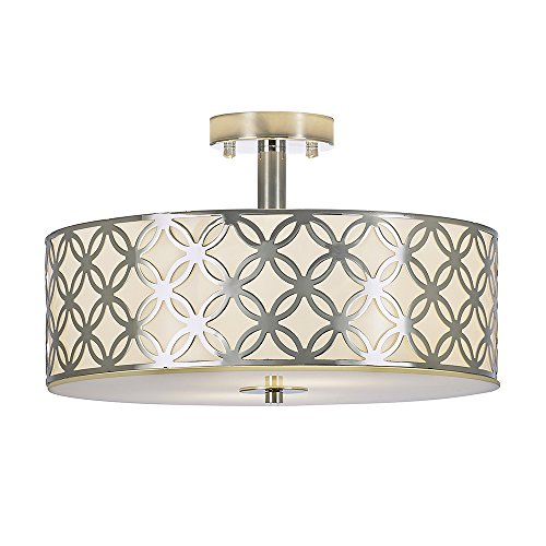 POPILION Double Drum Chandelier Flush Mount Ceiling LightsDiameter 1574 Inch 2 Lights