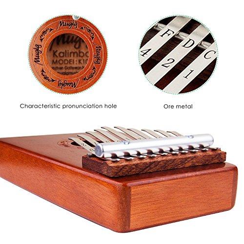 Mugig Kalimba Mbira Sanza 10 Keys Thumb Piano Pocket Size Beginners Friendly Supporting Kalimba Bag and Musical Notation - Image 1