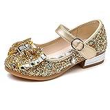 Kikiz Little Girl's Princess Dress Shoes, Style 1-Gold, 9 M US Toddler
