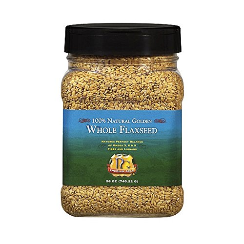 Premium Gold Flax Products Inc. 100 Natural Golden Whole Flaxseed