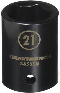 GearWrench 84617N 1//2 Drive 6 Point Standard Universal Impact Metric Socket 17mm Black
