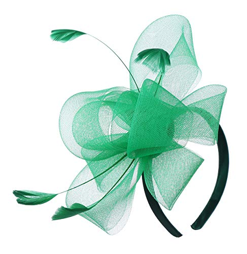 Felizhouse Fascinator Hats for Women Ladies Feather Cocktail Party Hats Bridal Headpieces Kentucky Derby Ascot Fascinator Headband (#4 St Patricks -