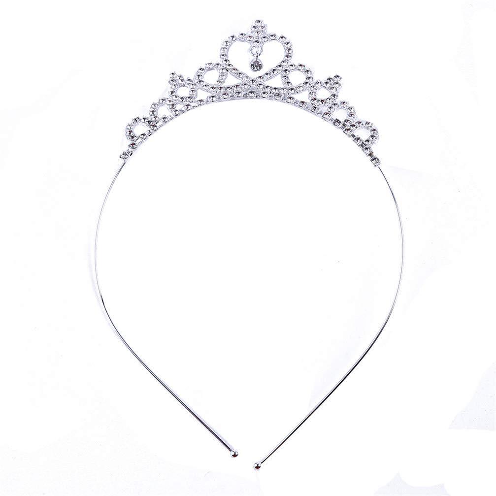 Myhouse Charm Crystal Crown Headband Headdress Princess Birthday Gift