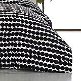 Marimekko Rasymatto Black Cotton Duvet Cover