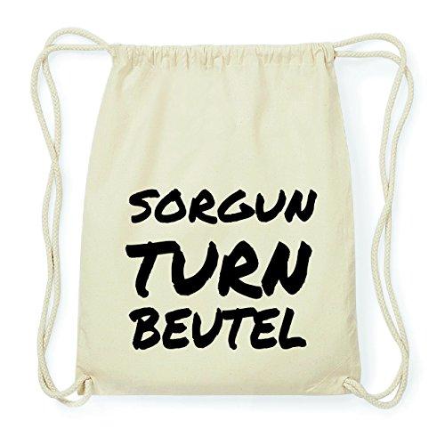 JOllify SORGUN Hipster Turnbeutel Tasche Rucksack aus Baumwolle - Farbe: natur Design: Turnbeutel