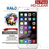 Halo Screen Protector Film High Definition (HD) Clear (Invisible) for iPhone 6 Plus - [3 Pack] - Lifetime Replacement Warranty