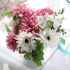 Artificial Silk Flowers Gerbera Bouquet Accessories Bridal Hydrangea Flower 82