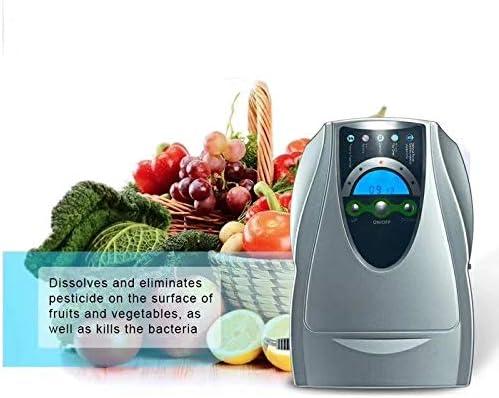 YYSDH 2020 Aire-Agua Esterilizador Ionizador Generador De Ozono Purificador Verduras Frutas Esterilización De La Máquina De Ozono Ozonizador Multi con Temporizador para Ministerio del Interior,Gris