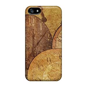 For Iphone 5/5S Protector Cases Clock Antique Arrow Texture Phone Covers