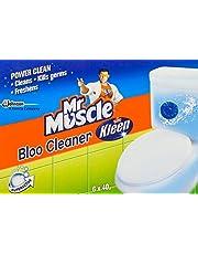 Mr Muscle Kiwi Kleen Toilet Bowl Bloo Cleaner, 40g (Pack of 6)