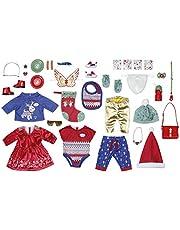 Zapf Creation 828472 BABY Born adventskalender met 24 kleding- en accessoireverrassingen voor BABY Born, poppenaccessoires, 43 cm