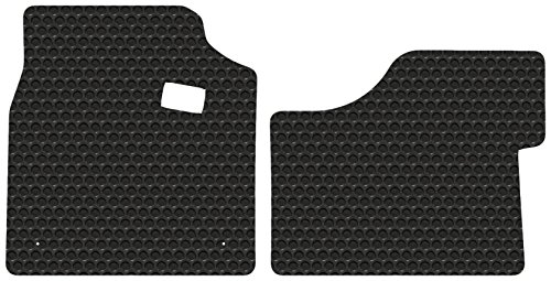 (Kenworth T680 - Black Rubbertite All-Weather Floor Mats by Lloyd's - 2 Piece Cab Fronts - Fits 2013-2018)