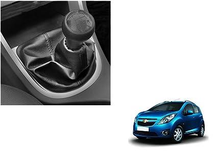 Autovea Car Gear Lever Leatherette Cover Black For Chevrolet Beat