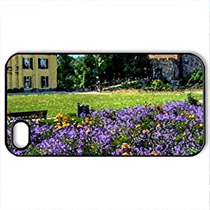 castle linnkrefeld hdr - Case Cover for iPhone 4 and 4s (Watercolor style, Black)