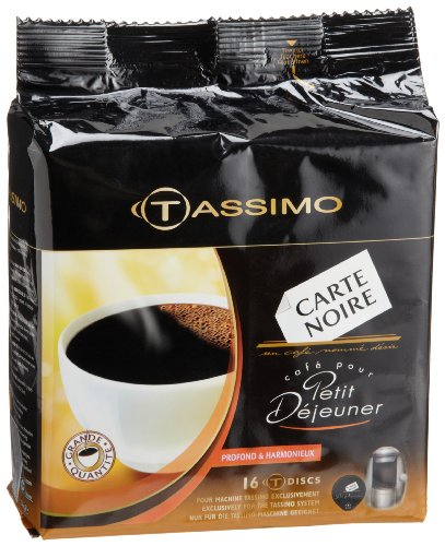 Carte Noire Petit Dejeuner Coffee, T-Discs for Tassimo Coffeemakers, 16-Count Packages (Pack of (Tassimo Espresso Maker)